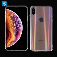 Tempered Glass TPU phone case for iphone X(S)