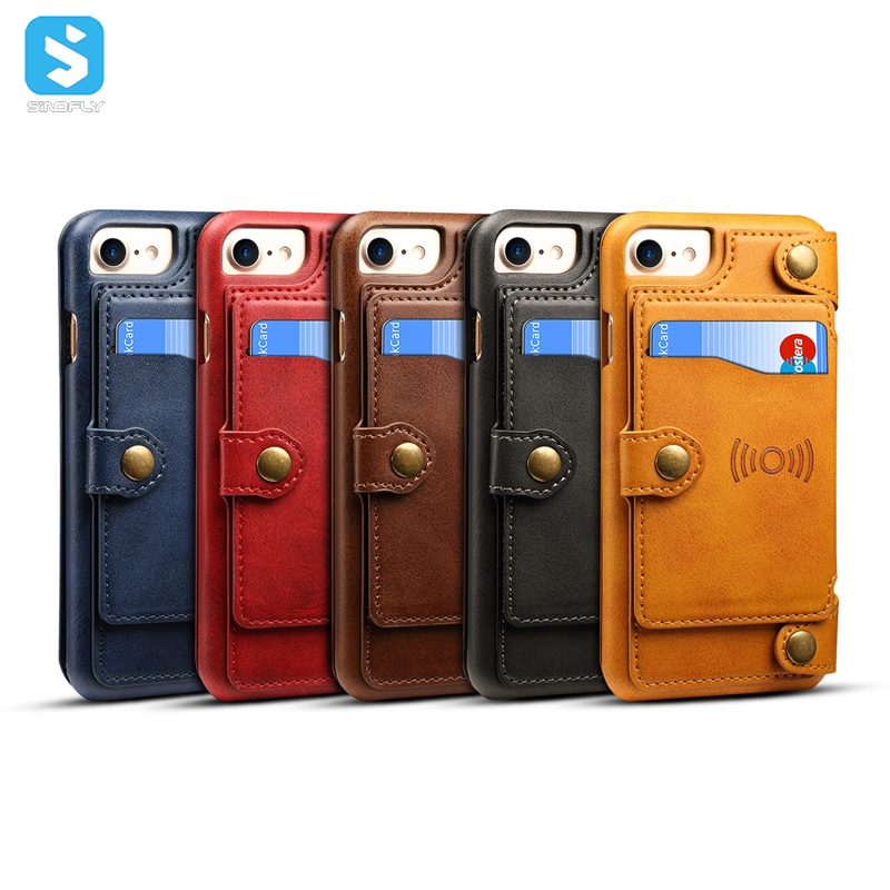 2 in 1 Calfskin pattern universal case for iphone 6 7 8