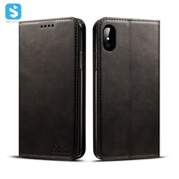 Cowhide lines leather case for iphone X(S)