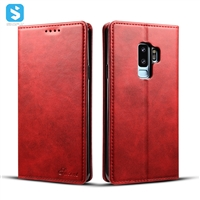 Cowhide grain wallet leather case for Samsung Galaxy S9 plus