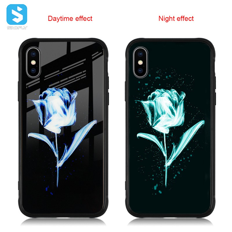 luminous glass phone case for iphone xs