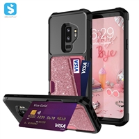 TPU glitter with card slot case for Samsung Galaxy S9 plus