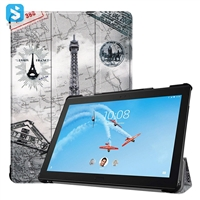3 fold colorful leather case for Lenovo tab P10-X705F 10.1